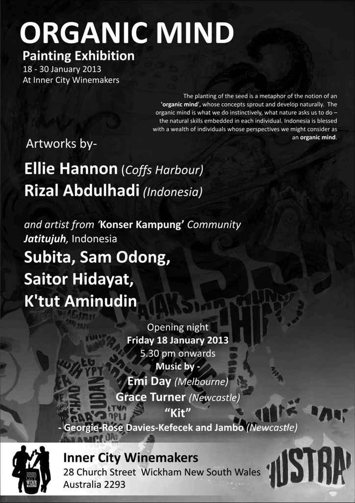 poster exhibition organic mind aus