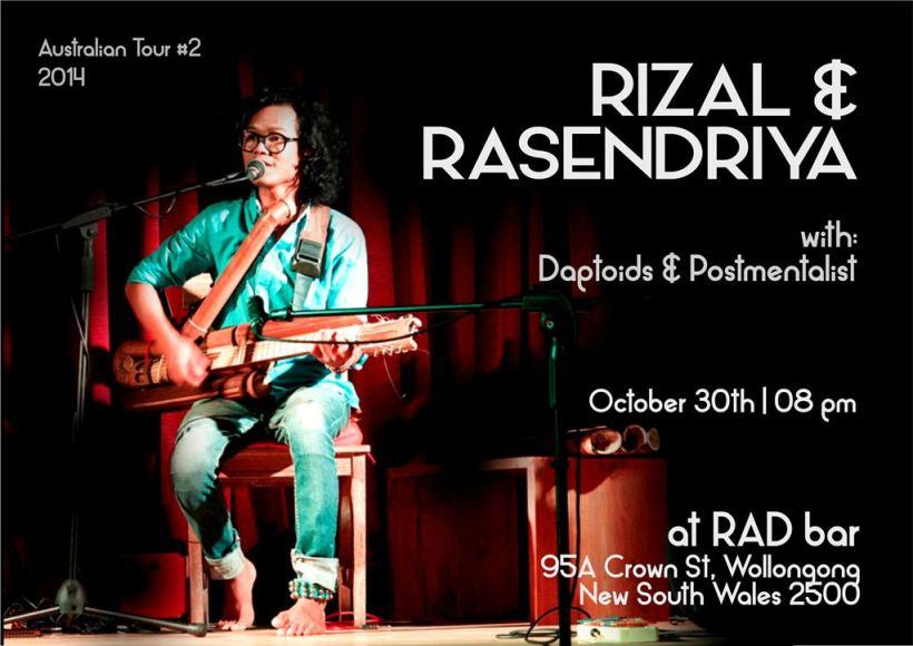 Rizal & Rasendriya at RAD bar poster
